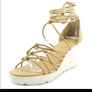 NEW Charles by Charles strappy wedge.